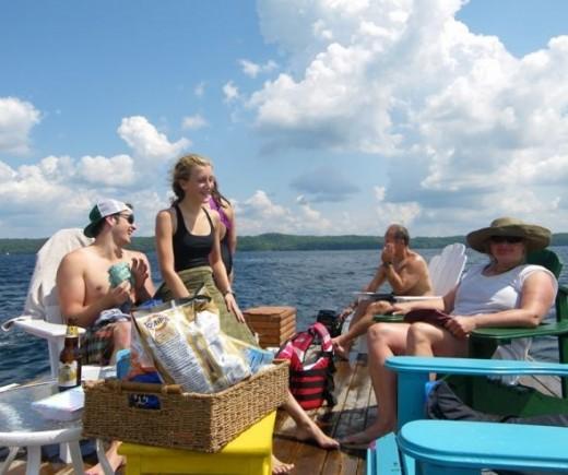 Summer Cottage Floating Dock Cruise