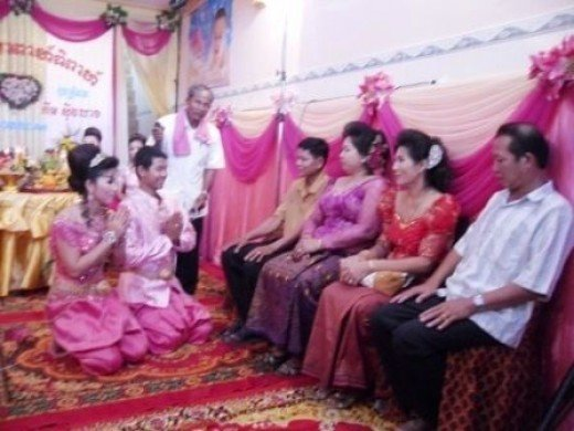 Popil Ceremony in Khmer Wedding