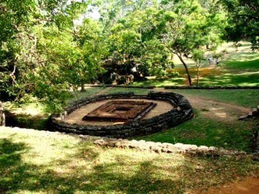 The garden of the Sigiriya fortress