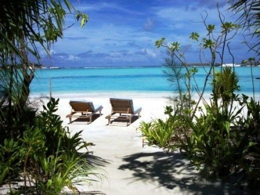Your own beach in a resort in Maldives
