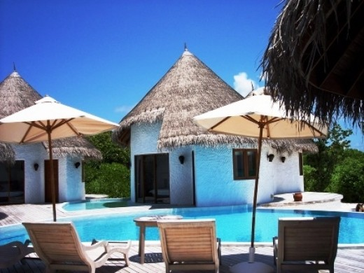 Your villa in a resort in Maldives