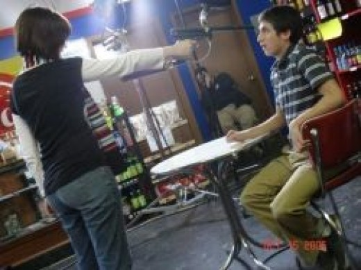The filming of Gamers in my soda store.