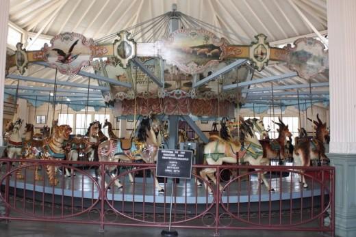 The Dentzel Carousel in Highland Park in Meridian, MS.