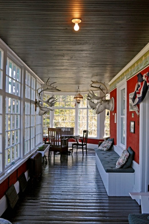 This is the sun porch in Grenfell's St. Anthony home.