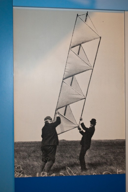 Mr. Bell developed tetrahedral kites with the goal to achieve manned flight using a kite.