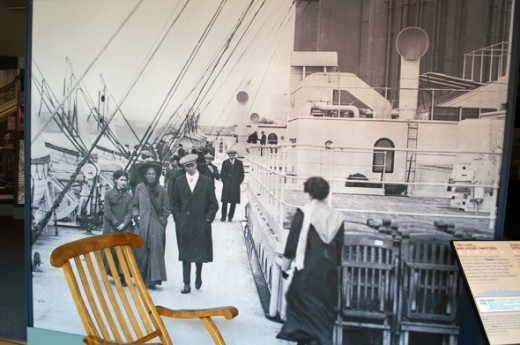 An original deck chair from the Titanic.
