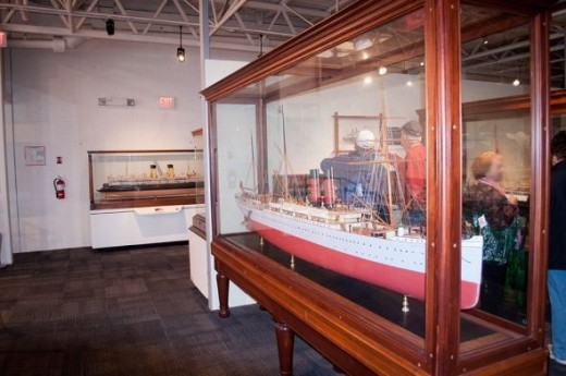 Some of the ship models on display at the museum.