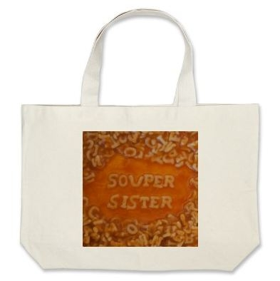 A selection of bags and totes with noodle messages.