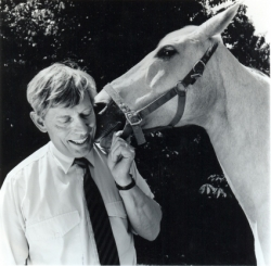 Chris Day with rescue horse