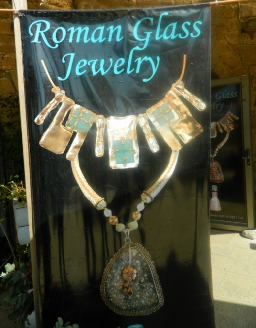 Totally gorgeous jewelry that is made with remains of ancient roman jewelry that was found in Caesarea!:)