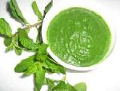 Fresh Mint Chutney Recipe - South Indian Pudina Chatni