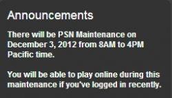 Scheduled Maintenence