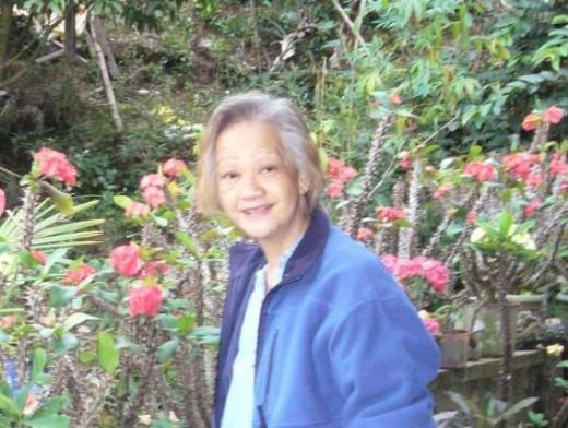 Mom in her garden