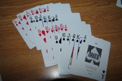 A standard euchre deck