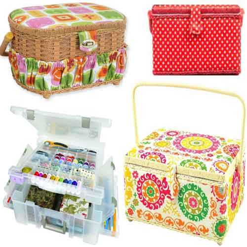Sewing Basket and Box