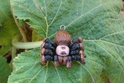 Tarantula pendant I sculpted