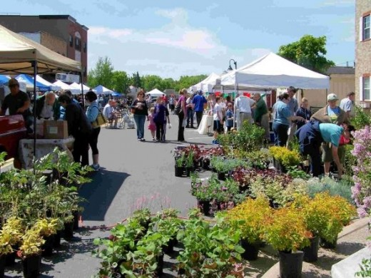 Shoppers at the Prior Lake Farmers' Market