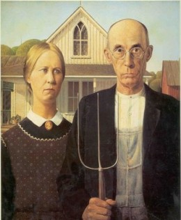 """Grant Wood's """"American Gothic"""""""