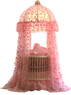 From the Little Miss Liberty Make Believe Collection...This is The Pink Parisian Canopy Set and it can be found at www.theroundbabycribcompany.com