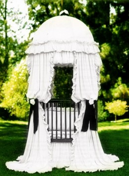 From the Little Miss Liberty Fantasy Collection...This is Nob Hill Universal Canopy Set and it can be found at The Round Baby Crib Company... www.theroundbabycribcompany.com