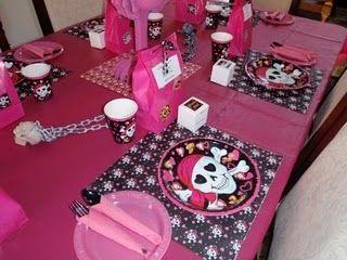 pink skull birthday party
