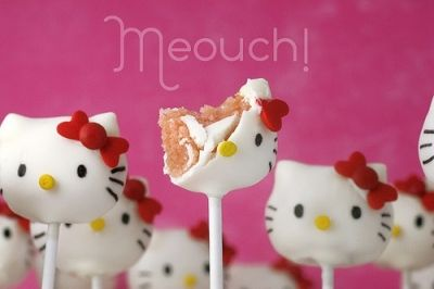 Bakerella Hello Kitty Cake Pops