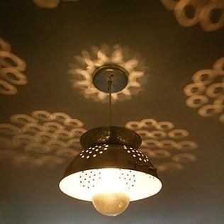Colander Lamp by The Plumed Nest