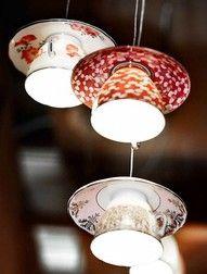 Tea Cup Lighting by Bespokezine