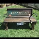 Tailgate Bench and photo by Back Yard Diva