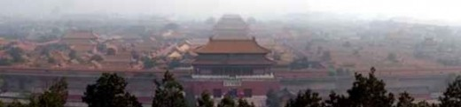 Panorama of the Forbidden City in Beijing