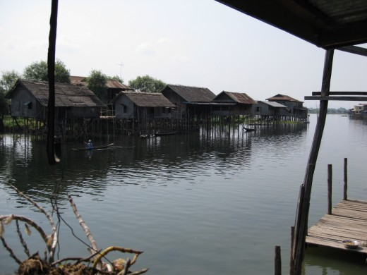 Stilt houses in the lake