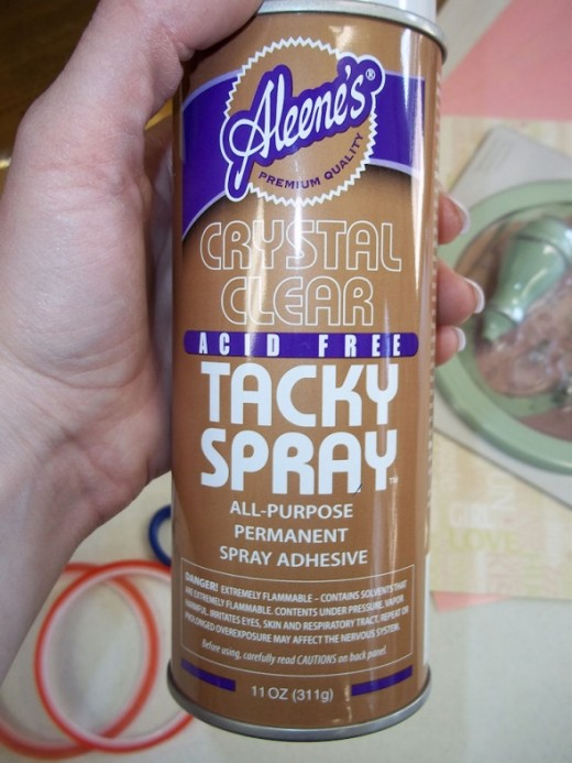 Any type of permanent tacky spray adhesive will make this project go a lot faster.