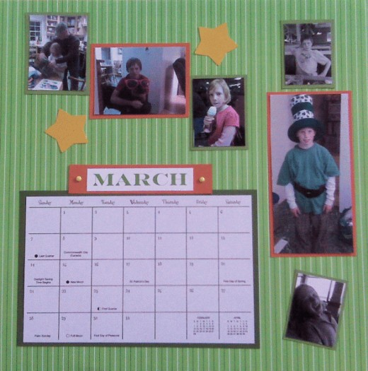 It just so happened that one of the kids was a leprechaun for Halloween, but the photo worked great for MARCH.
