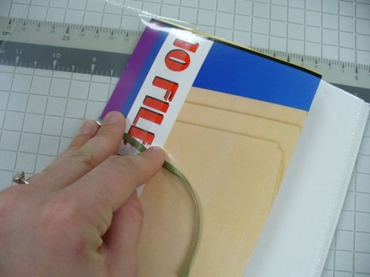 Fold your artwork into the slide jig so the slide jig completely covers it.
