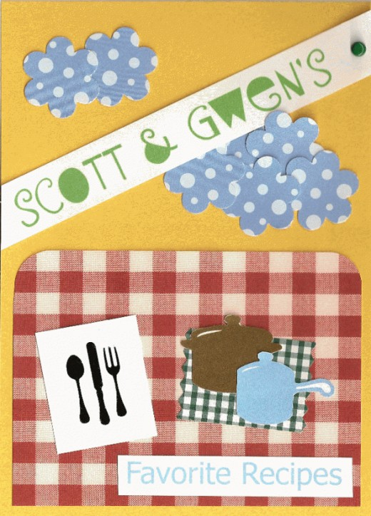 The front cover of Scott and Gwen's recipe book.