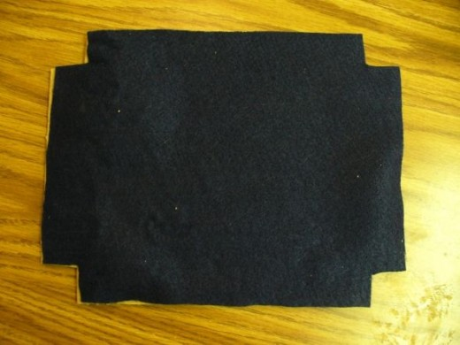 Here is a piece of felt cut to fit the press.