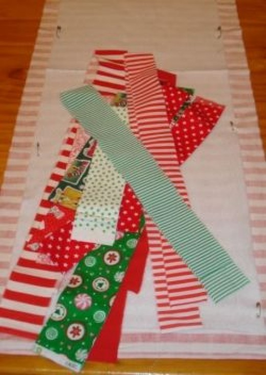Christmas patchwork table runner strips