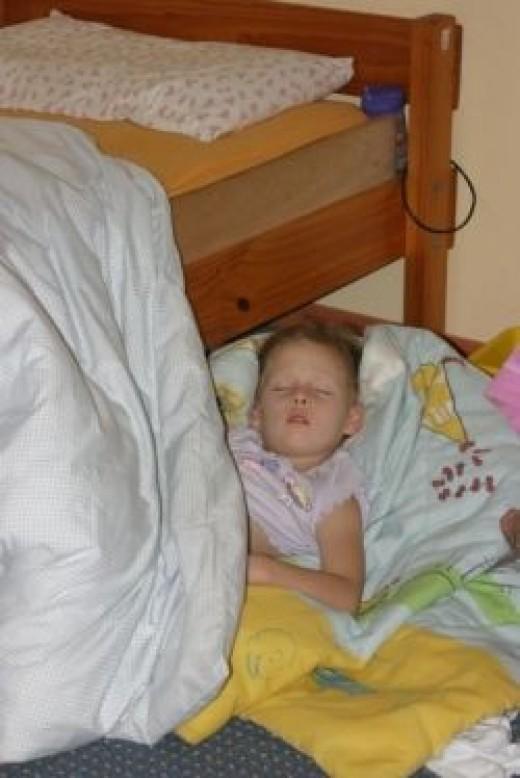 happy bedtimes on the floor