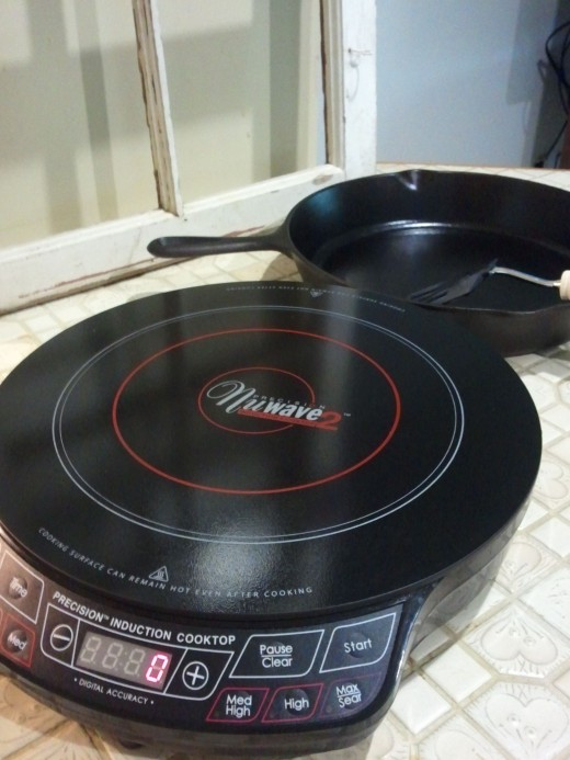 The Nuwave 2 Induction Cooktop looks nice on my counter
