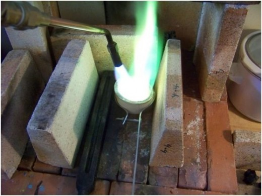 green flame, metals studio, jewelry studio, casting, ingot making