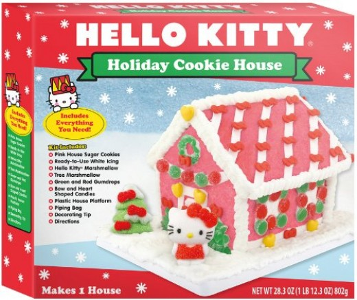 Buy this Hello Kitty Gingerbread House Kit on Amazon for $16.50