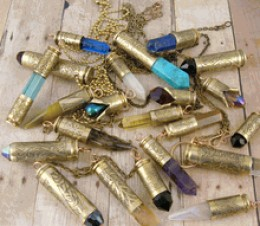Thought I'd throw in a group shot of the variety of bullet necklaces we make so you can see what a variety we make here, in America in our studio.