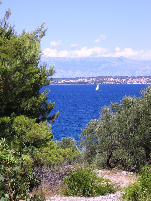 View on Zadar and mountain Velebit from island Ugljan, photo by Tatjana Mihaela Pribic