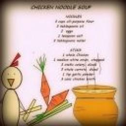 Chicken Noodle Recipe Magnet