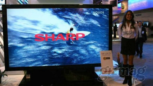 Sharp showcases World's largest LCD TV - 108 inches