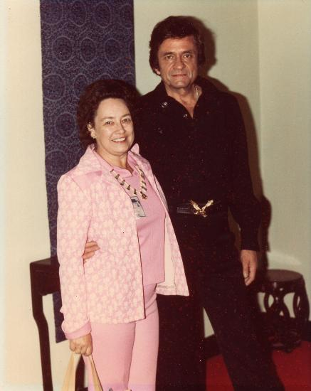 Aunt Janice with Johnny Cash
