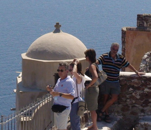 Norm and Cheryl in Santorini