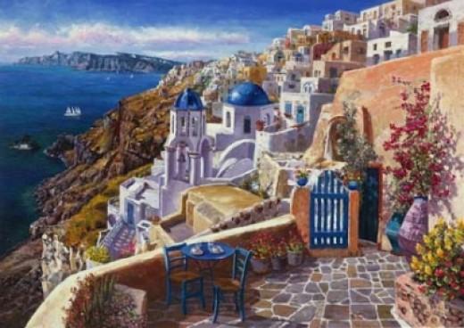 """View of Santorini"" by Sam Park"