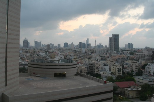 Tel Aviv, from our hotel window