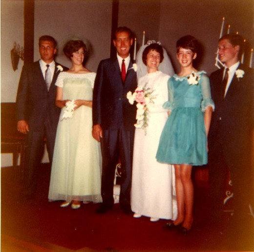 Wedding pictures:  Aunt Marie (as we all fondly remember her) had been a faithful and loving wife to Norvie for over 25 years.